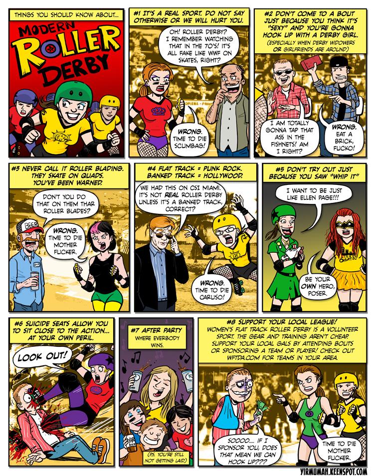 Roller Derby Comic