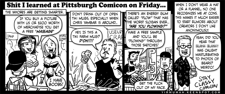 Stuff I learned at Pittsburgh Comicon on Friday